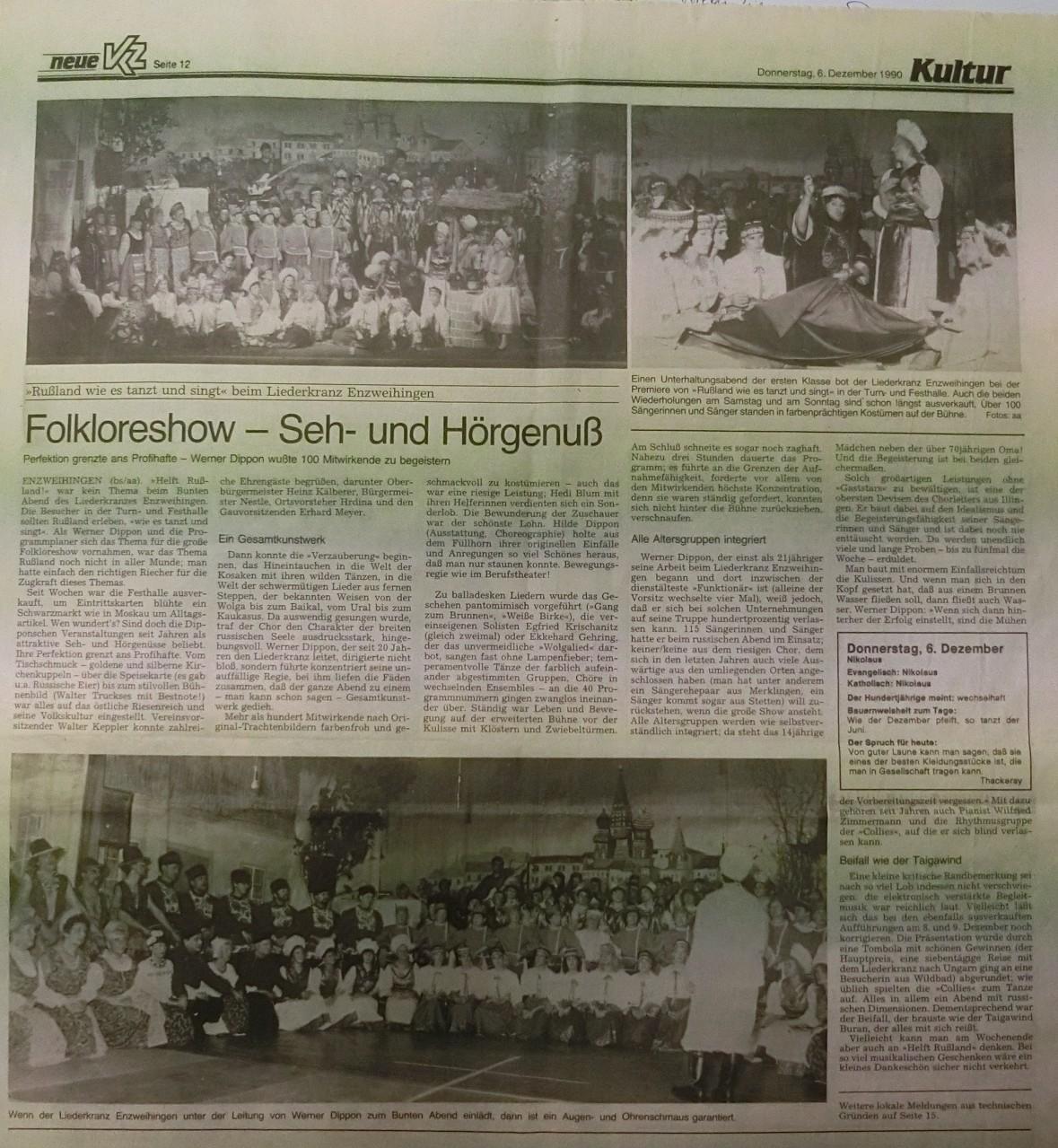 """LKE Revue : """"Russland wie es tanzt und singt"""""""
