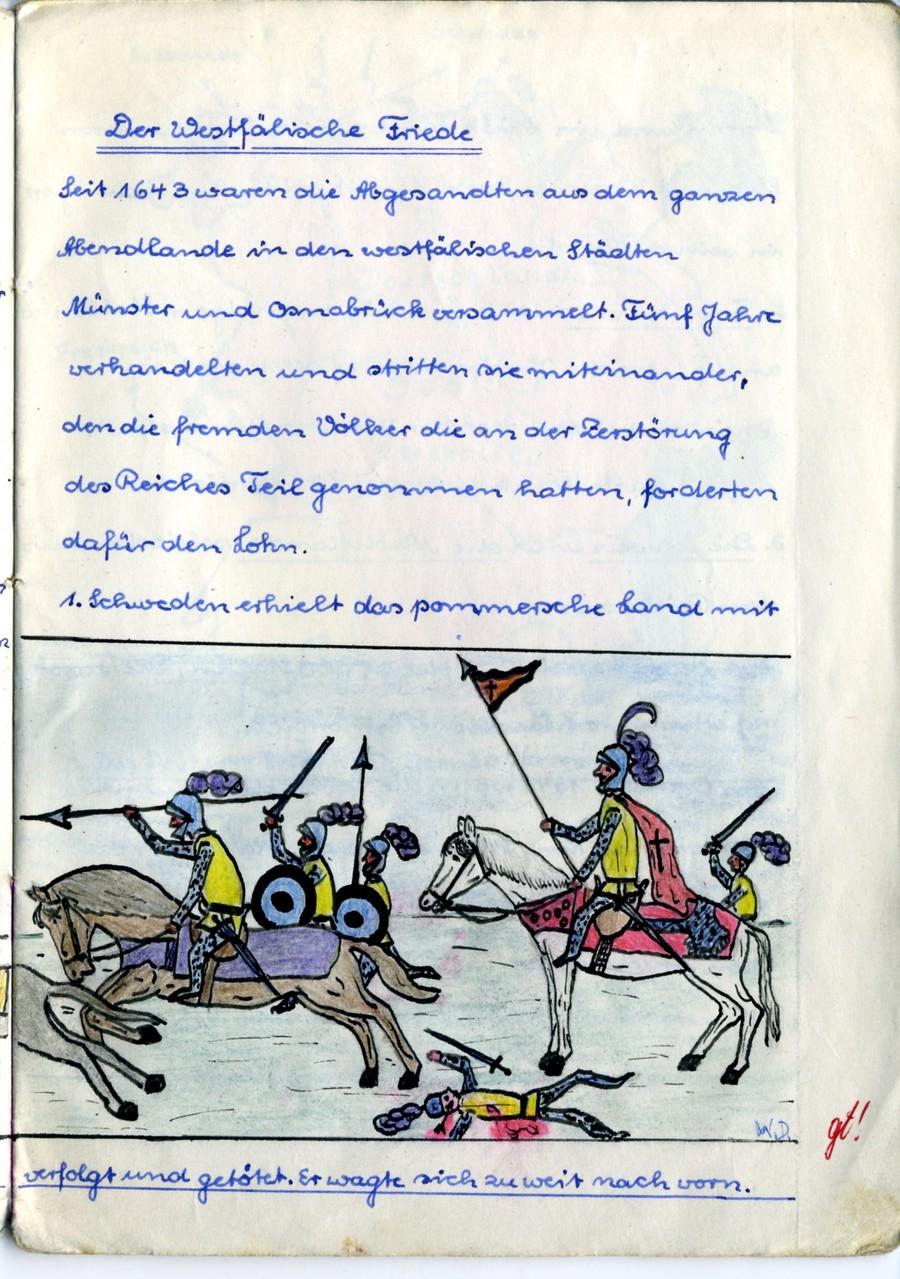 1961 - Klasse 6a. ...aus Heft:  Geschichte für Werner Dippon -