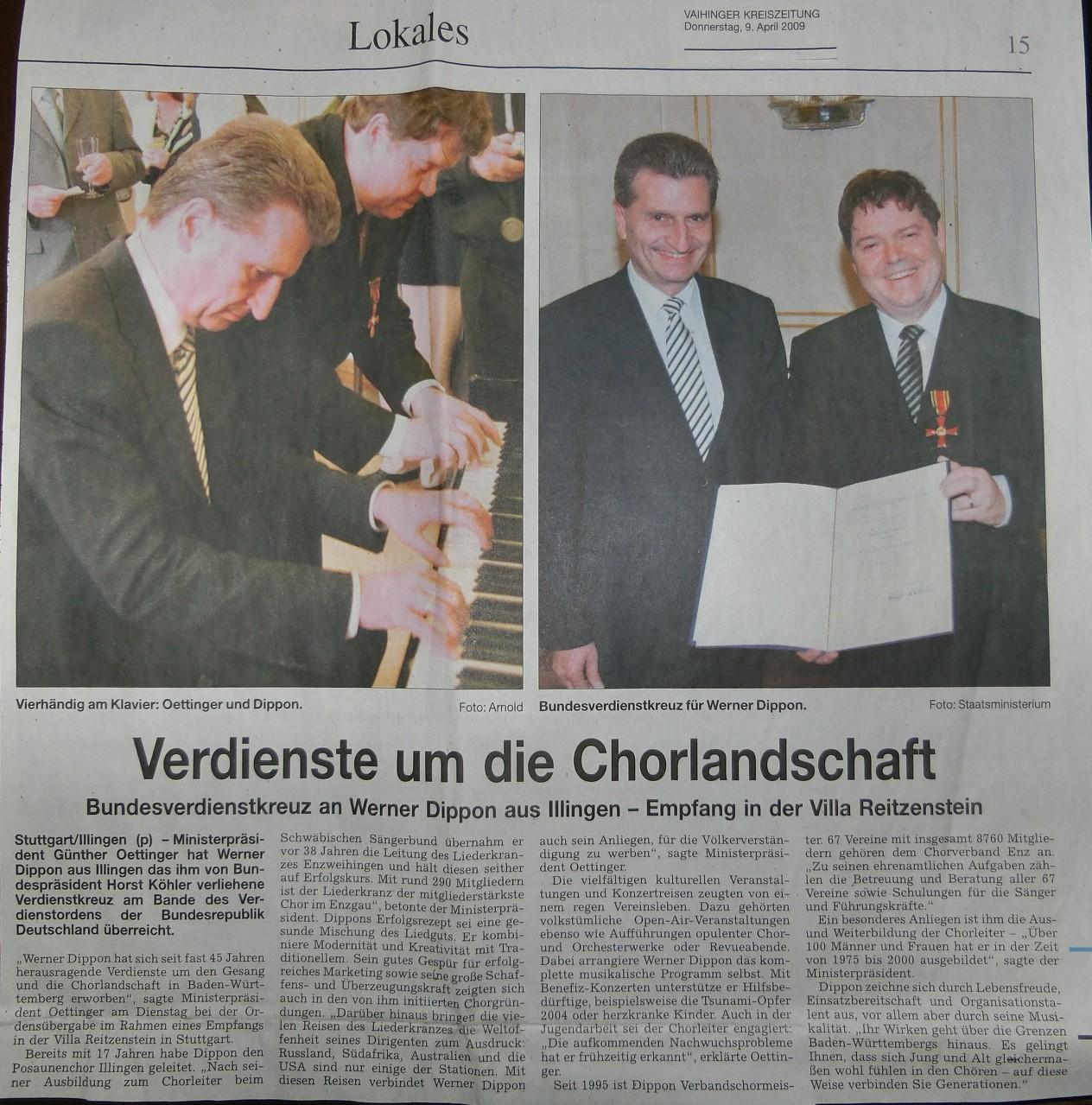 Bundesverdienstkreuz WAD 2009
