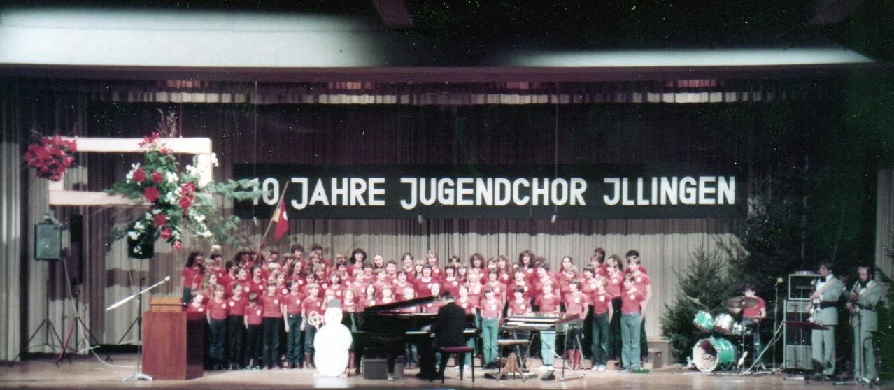"""Jubiläum """"10 Jahre Illinger Jugendchor"""" 1984 Stromberghalle"""