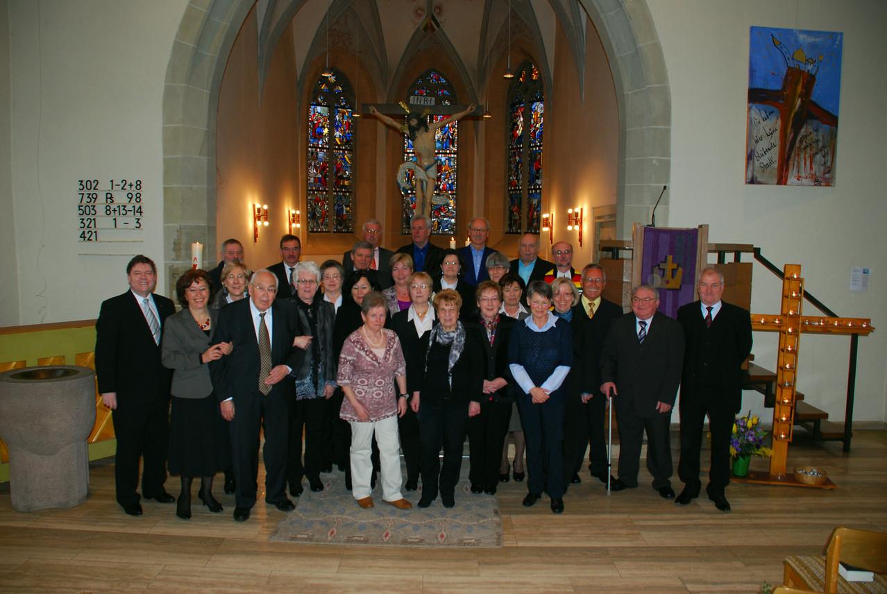 Goldene Konfirmation JG 48/49 Cyriakus-Kirche Illingen 17.03.2013