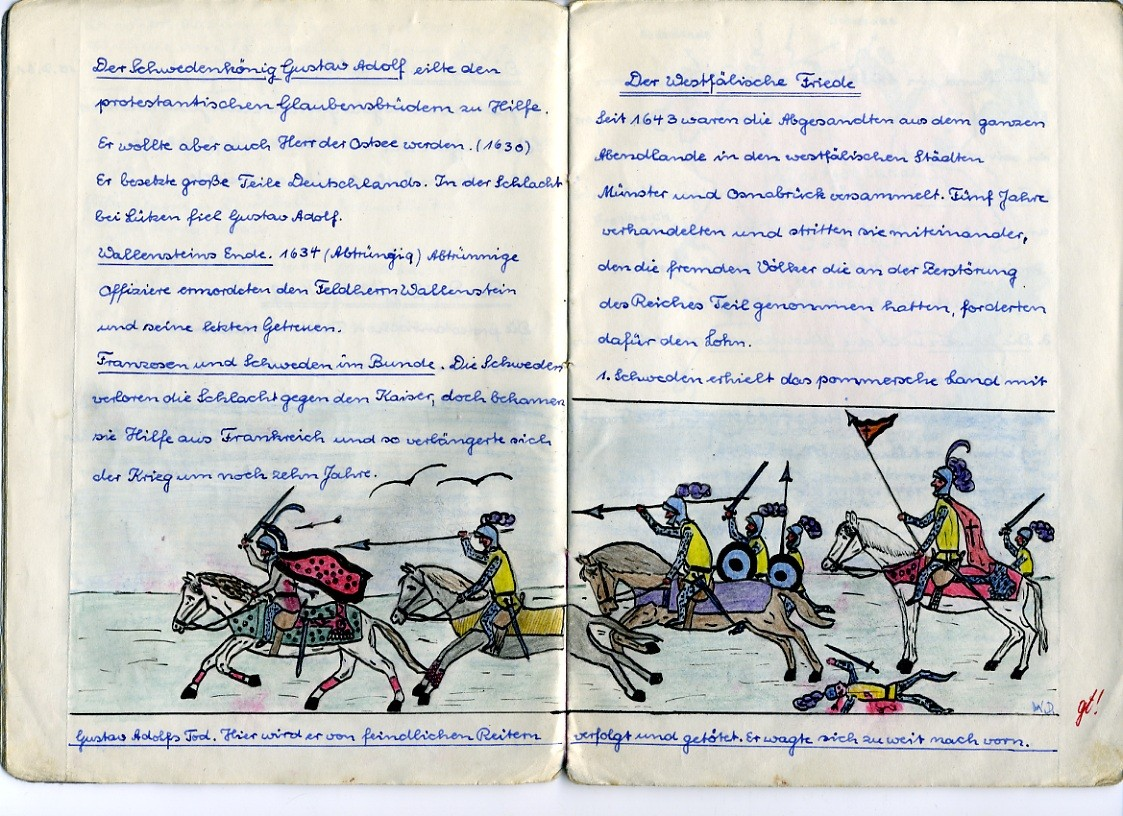 1961 - Klasse 6a. ...aus  Heft:  Geschichte für Werner Dippon