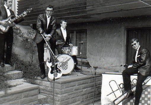 Die Apollos  :  Andy (Brandhuber) - Freddy (Günther) - Eddy (Haber) - und Benjamin Werner (Dippon)  - 1968 -