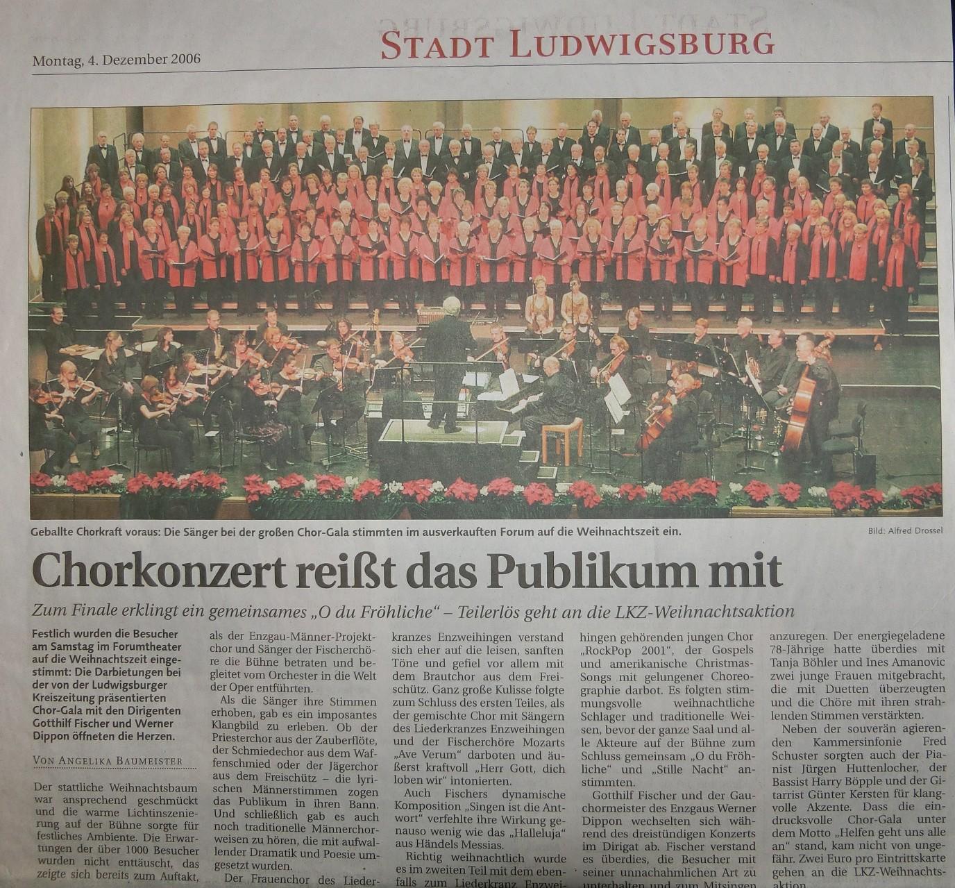 Chor-Gala Forum Ludwigsburg - Ltg. WA  Dippon -