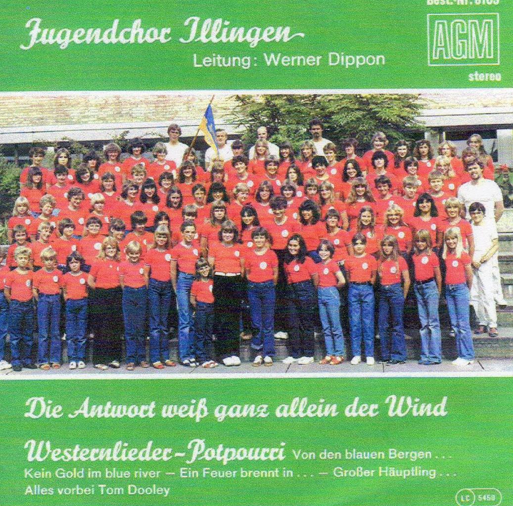 """Cover 1. Single  """"Die Antwort weiß ganz allein der Wind"""" 1979"""