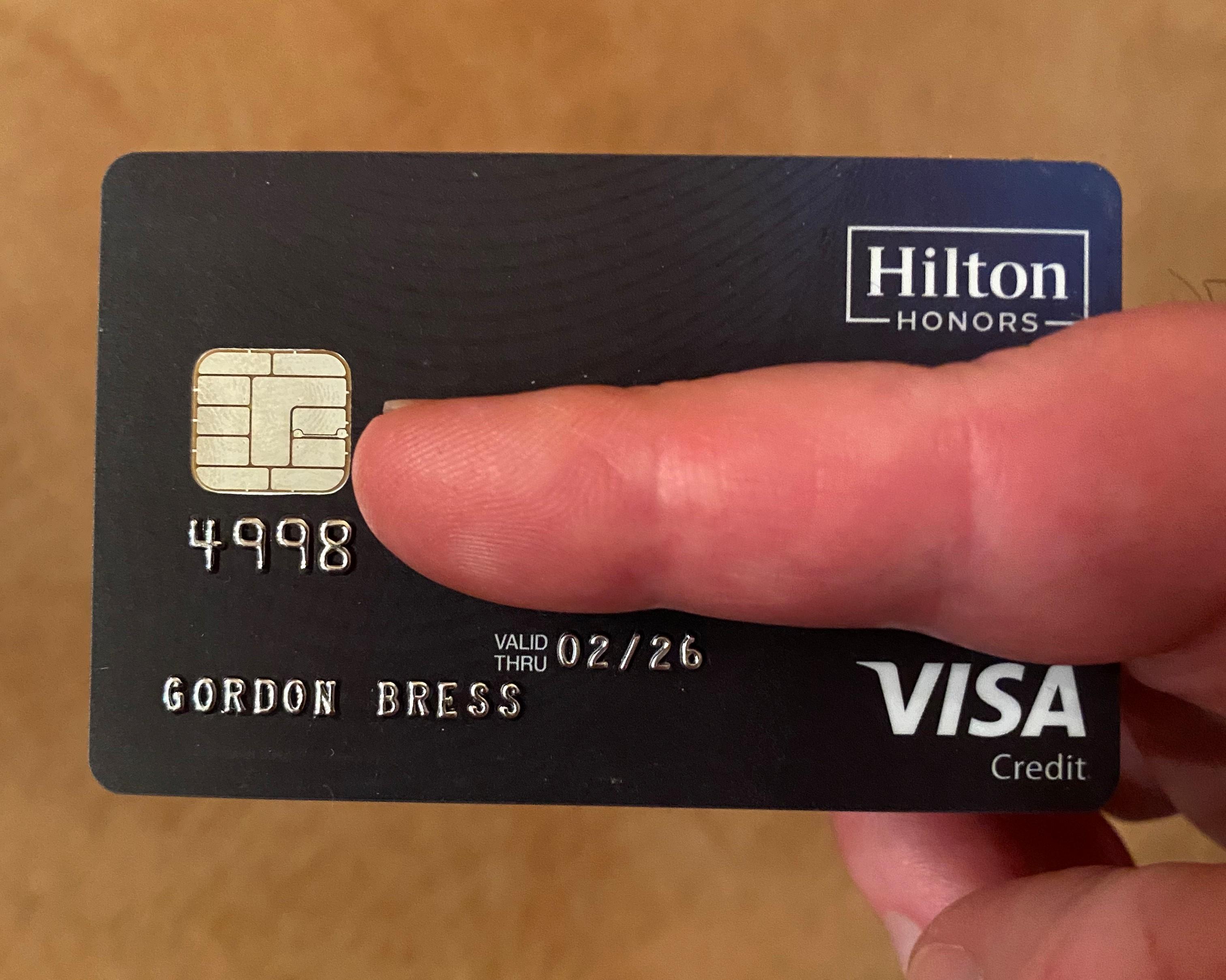 Unsere Hilton Honors Visa Karte - GEKKO luxury travel