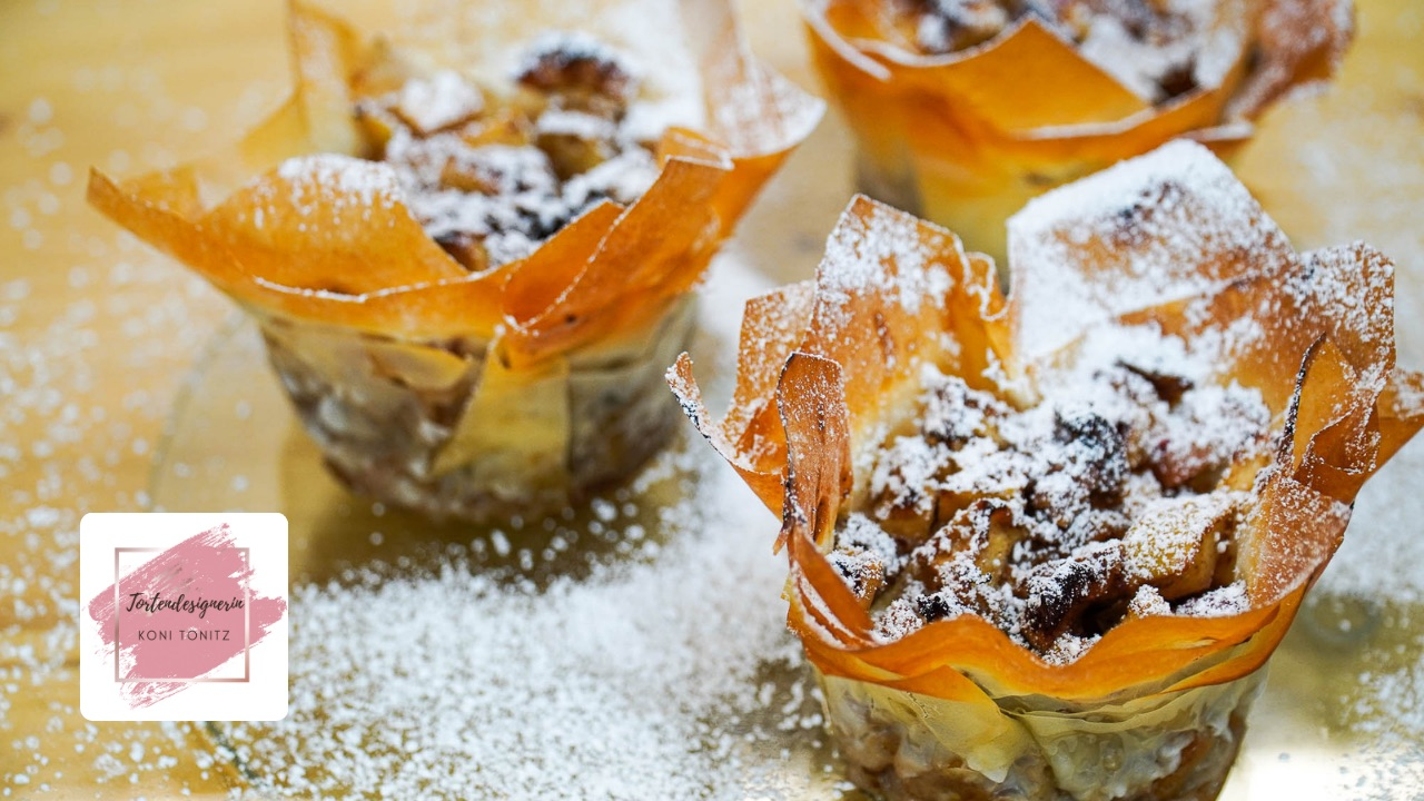 Apfelstrudel Muffins - vegan!