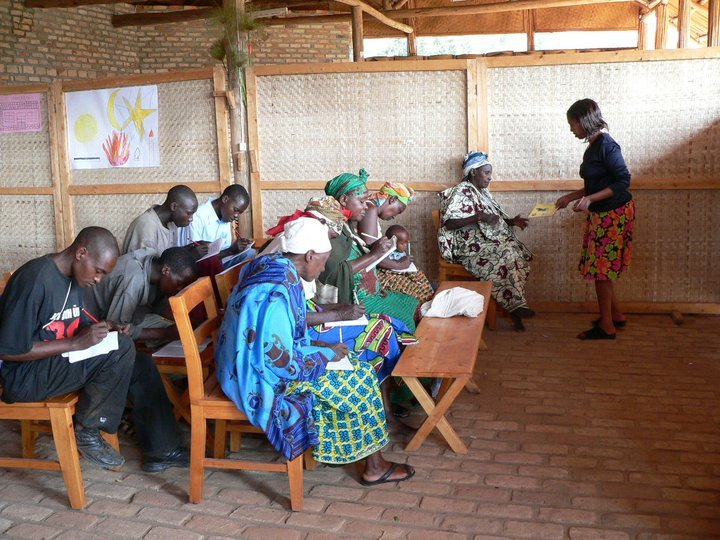Schulung am Projektstandort Gihisi