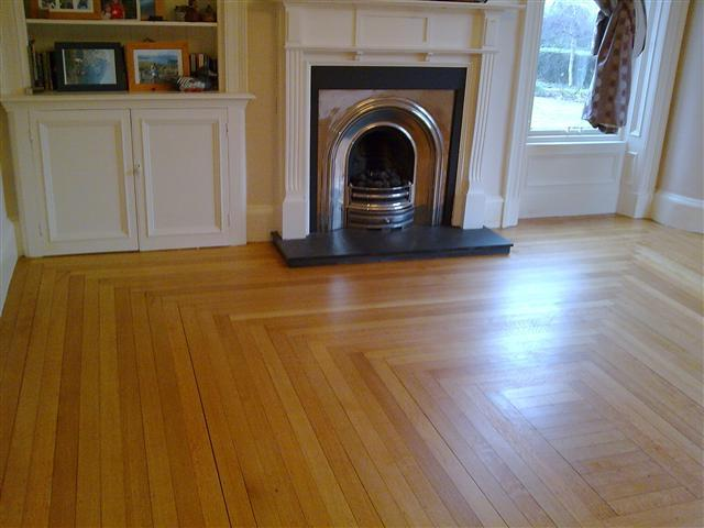 Oak floor finished with Granwax Granglaze polyurethane floor seal.