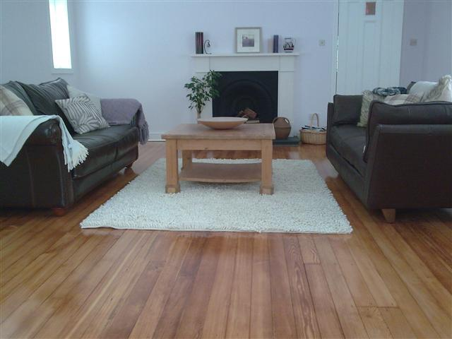 The use of an oil based primer gives this floor a warm deep finish