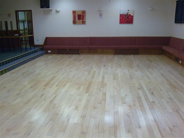 Campbeltown masonic hall finished with Junckers Baseprime and HP Commercial lacquer.