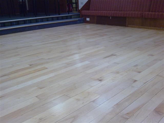 Campbeltown masonic hall finished with Junckers Baseprime and HP Commercial lacquer