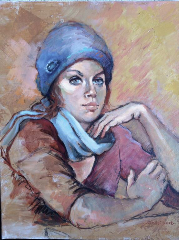 Echarpe et bonnet bleu 8 F