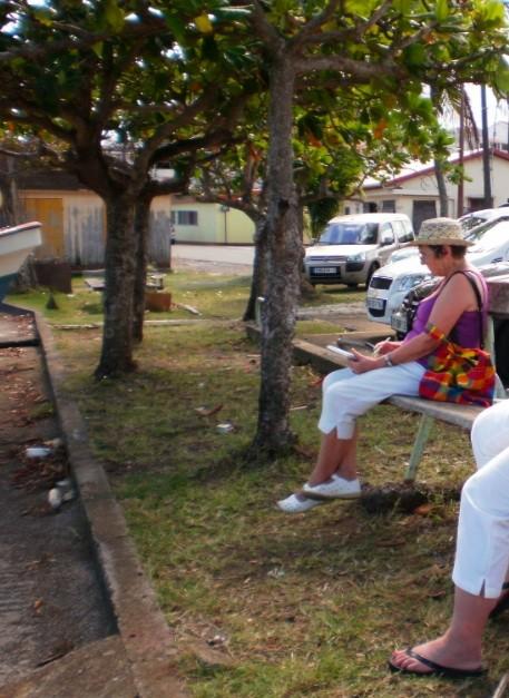 Croquis sur le port (Martinique)
