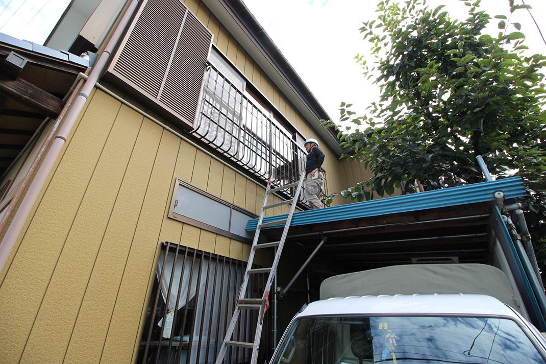現場の調査|雨漏り修理工事【さいたま市北区日進町】