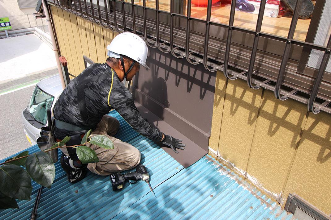 屋根板金の施工|雨漏り修理工事【さいたま市北区日進町】