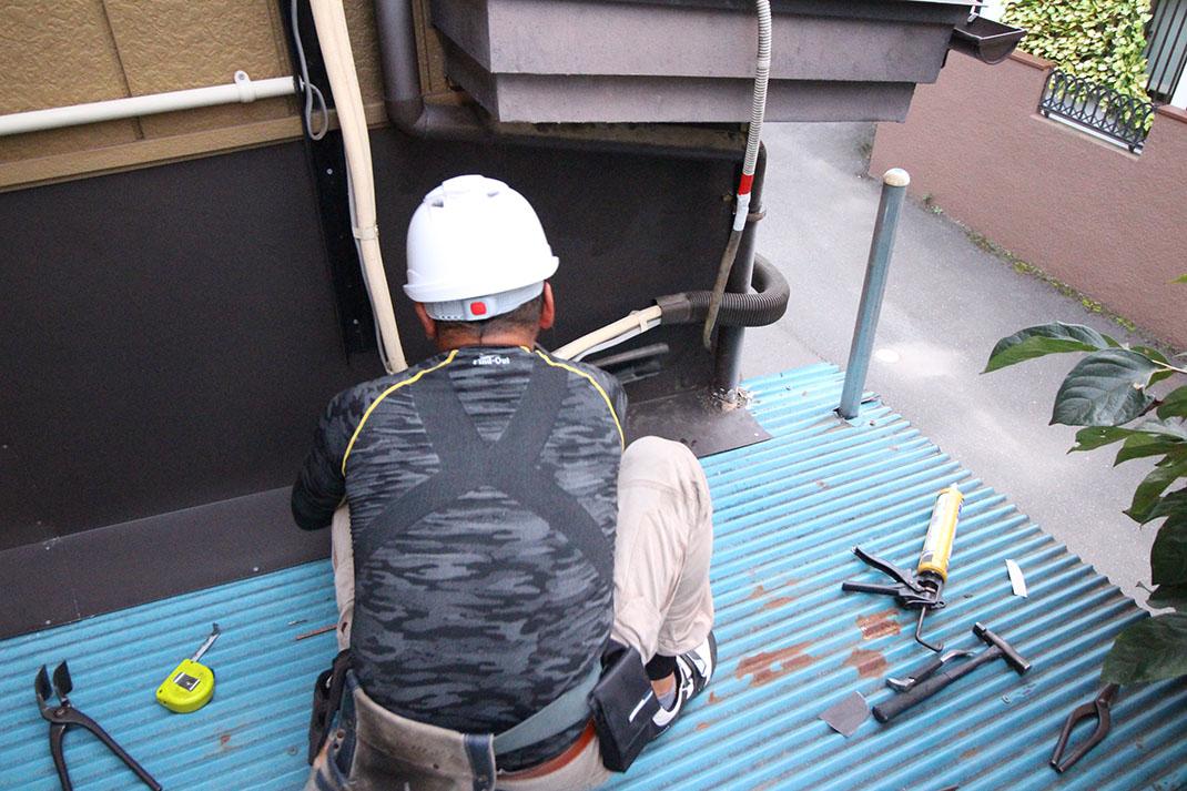 工事完了間近|雨漏り修理工事【さいたま市北区日進町】