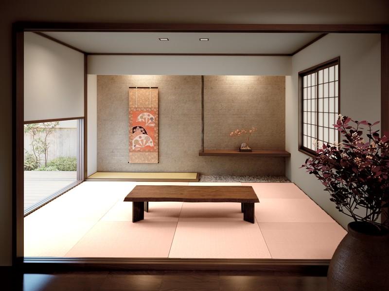 和紙の畳 薄桜色