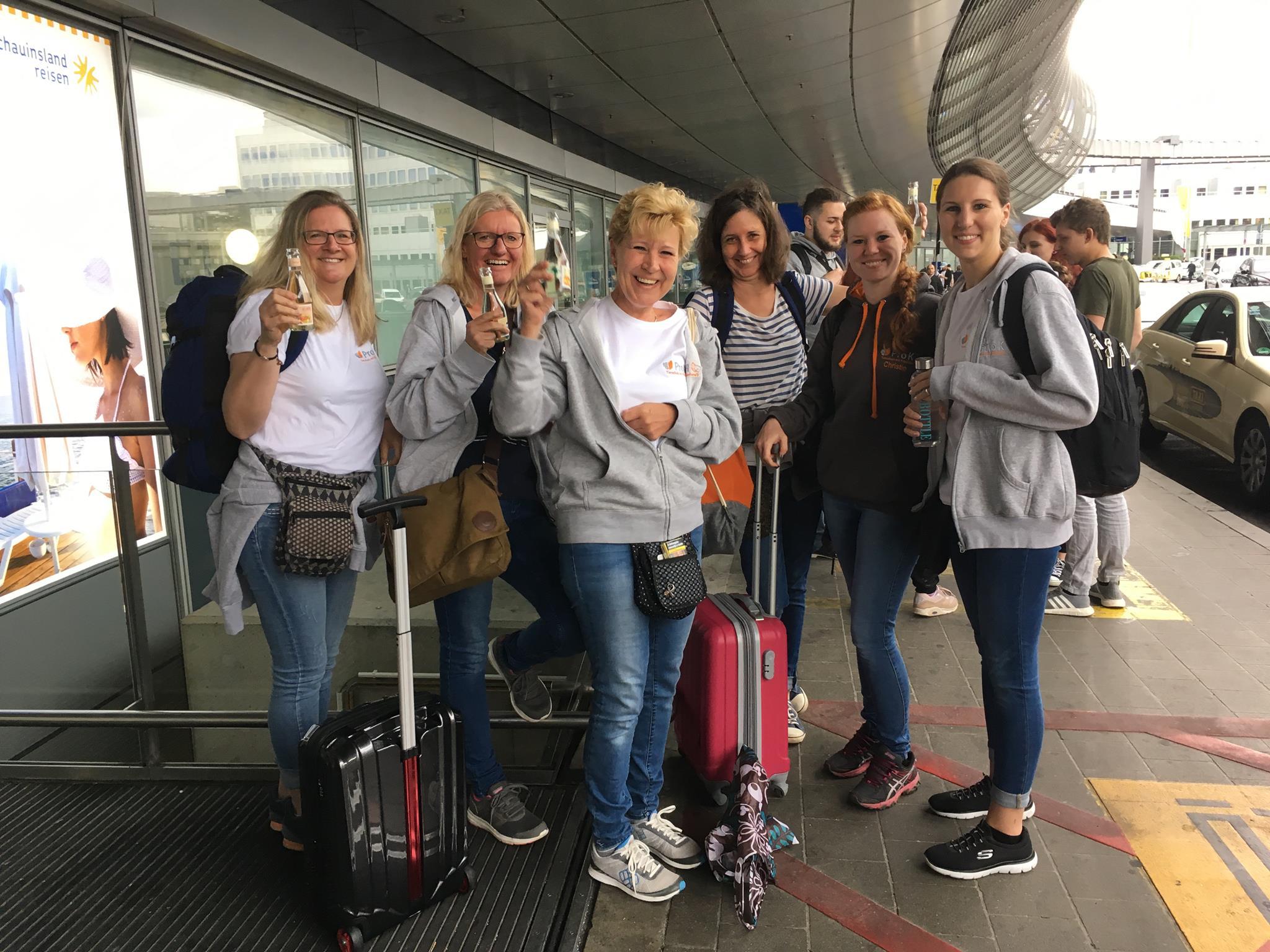 Abflug von Düsseldorf : Hoch motiviert!!