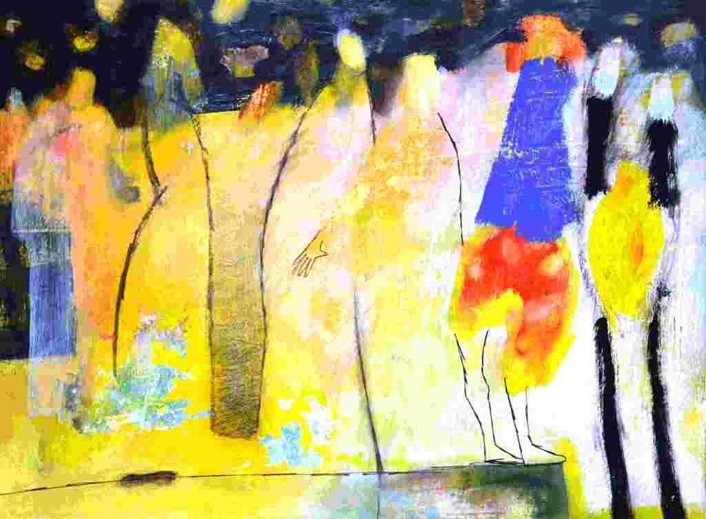 Figurenreihe (2009) Gouache 36x48 cm 700,- EUR