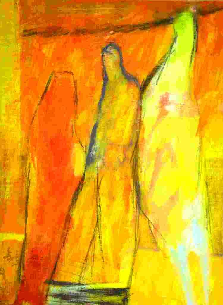 Bedrängnis (2011) Acryl 48x35 cm 700,- EUR