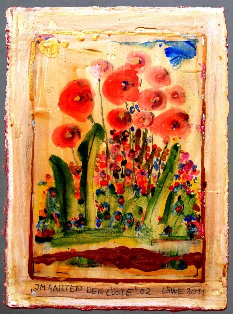 Im Garten der Lüste (2011) Mischtechnik 10,5x15 cm 150,- EUR