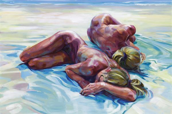 Strandwesen Acryl 100x150 cm