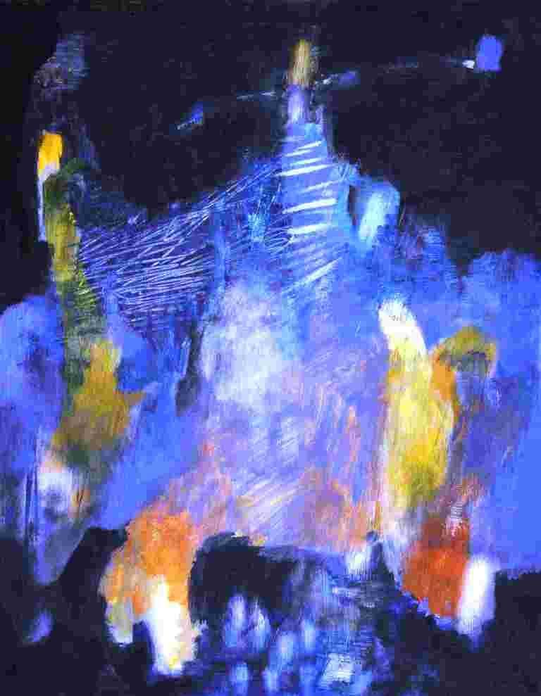 Nächtliche Szene (2010) Acryl 47x38 cm 700,- EUR