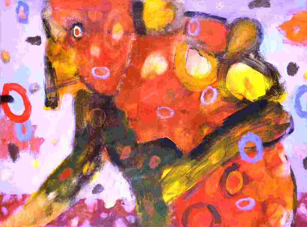 Geleit (2011) Acryl 35x47 cm 700,- EUR