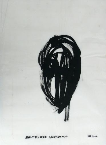Kopf (2003) Tusche auf Chinapapier 50x70 cm 350,- EUR