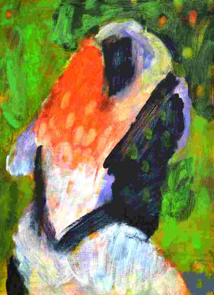 Paar (2010) Acryl 48x35 cm 700,- EUR