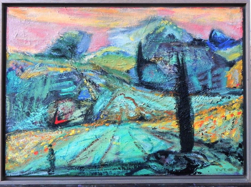 Toskanische Landschaft (2012) Öl auf Leinwand 50x70 cm 2.000,- EUR