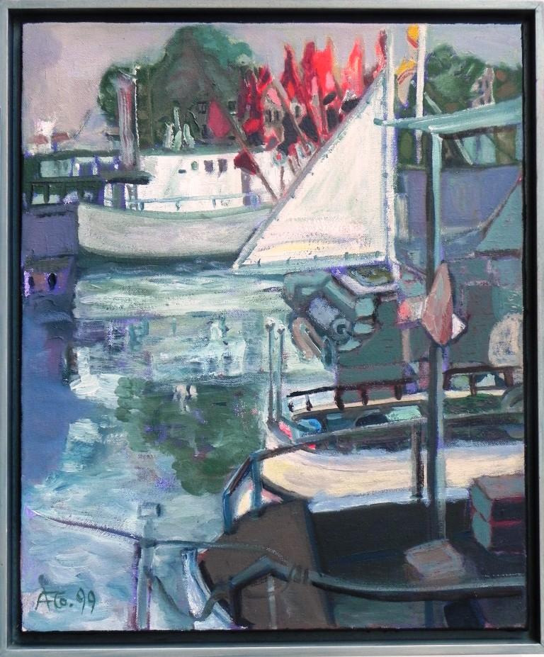 Fischerei am Strom (1999) Öl auf Leinwand 60x50 cm 1.900,- EUR