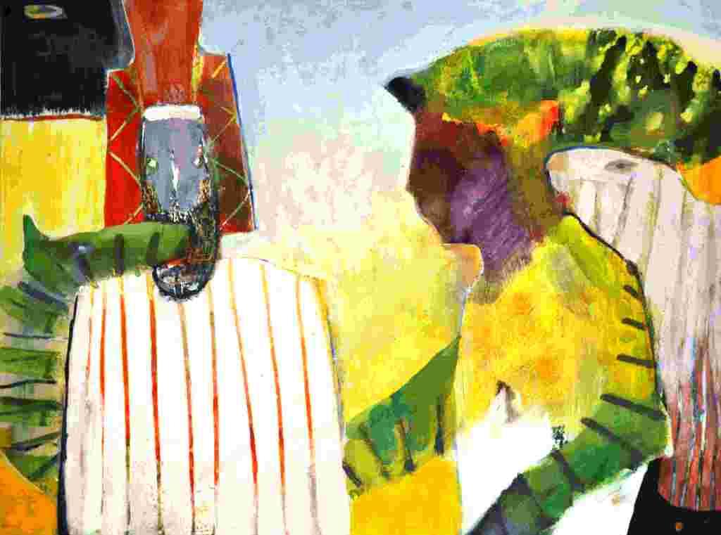 Beschwörung (2009) Gouache 36x48 cm 700,- EUR