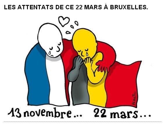 Nos pensées accompagnent nos frères belges.