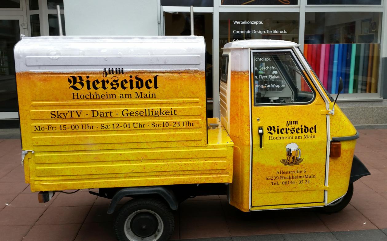 Bierseidel Vollverklebung, Hochheim