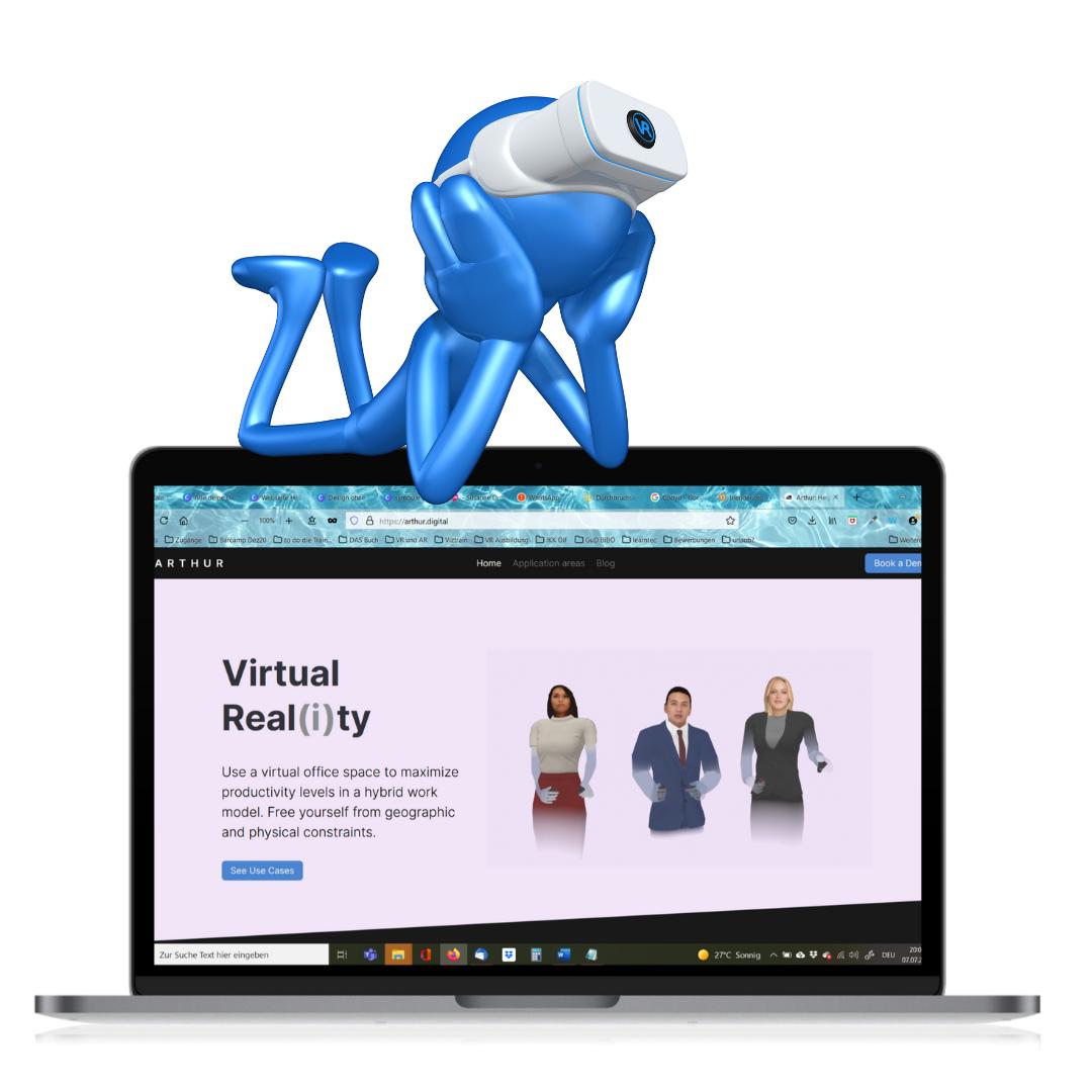 3D Räume für Online-Trainings – Arthur Teil 1