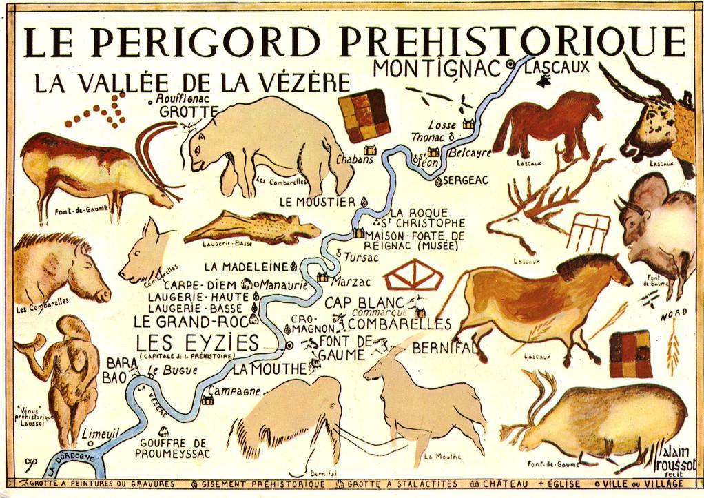 Principaux sites de la vallée de la Vézère