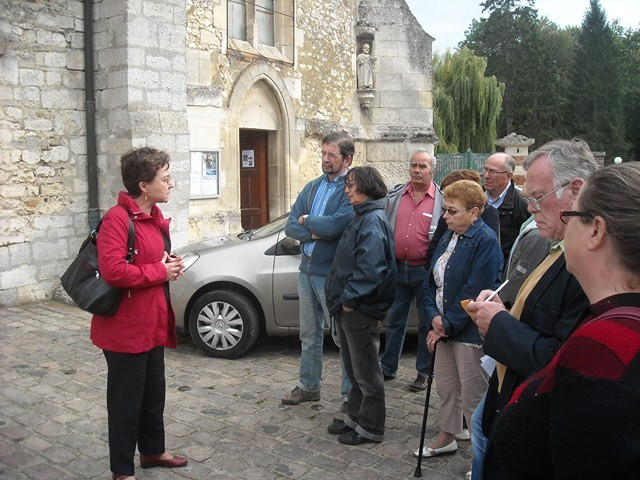 Nelly Segers à l'église de Fitz-James