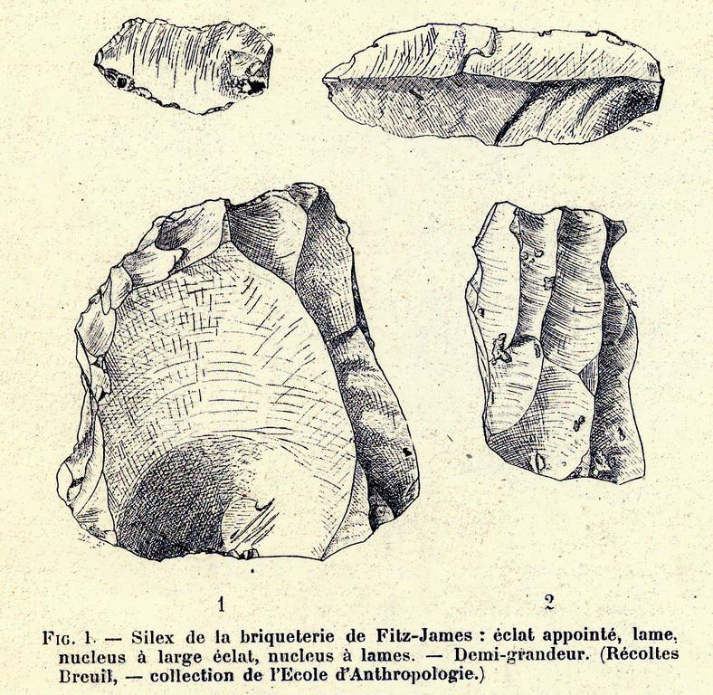Silex du site de la briqueterie de Fitz-James (Oise) (SAHC, n°3, 1904)