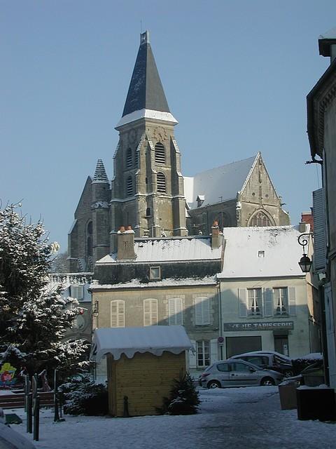 L'église Saint-Samson en hiver