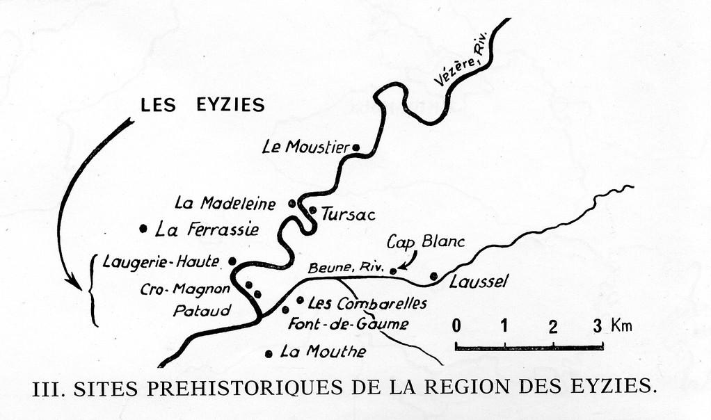 Les gisements préhistoriques autour des Eyzies-de-Tayac (Dordogne)