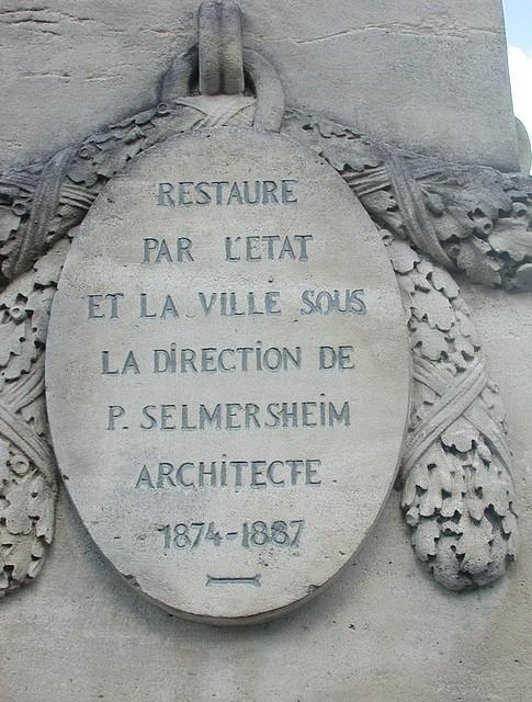 Le texte rappelle la restauration de Selmersheim
