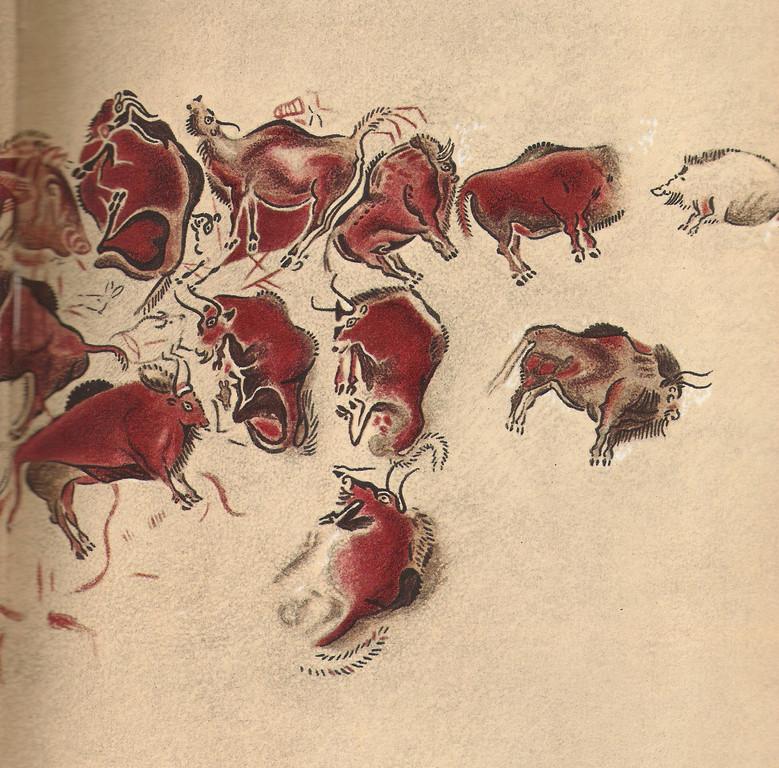 Plafond des bisons, Grotte d'Altamira (Espagne, province de Santander)