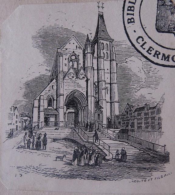 La façade. Gravure du 19e siècle