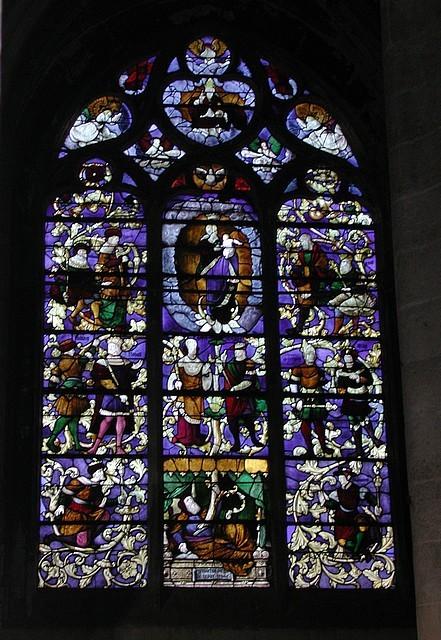 Vitrail de l'Arbre de Jessé (16e siècle)