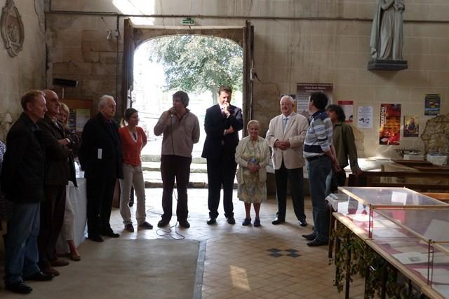 Inauguration de l'exposition à Breuil-le-Vert