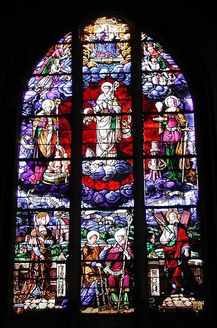 Vitrail des Saints Patrons (19e siècle)
