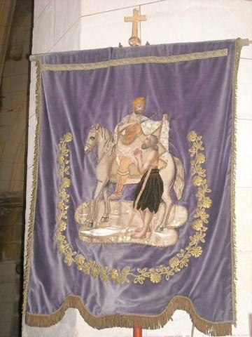 Banniere de saint Martin à l'église de Breuil-le-Sec
