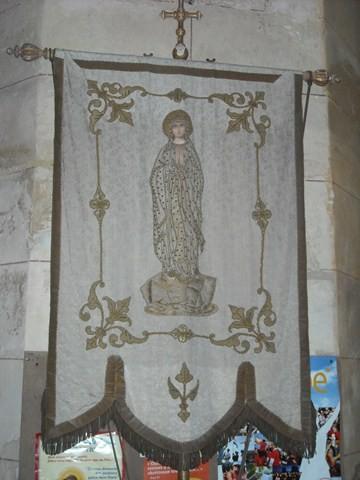 Bannière à l'église de Breuil-le-Sec